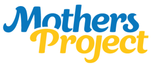 Mothers Project logo in blue and yellow