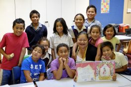 Group of children at Holy Family School Homework Help Club