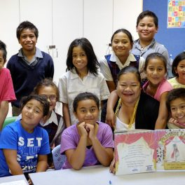 Group of children at Holy Family School Homework Club